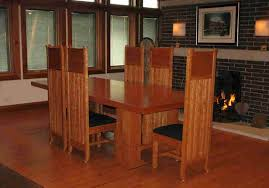 frank lloyd wright and stickley inspired tables chairs
