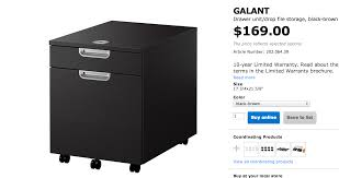 file cabinets ikea furniture black brown ikea galant file cabinet with 3 drawers for