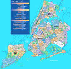 Maps New York City by Neighborhoods In New York City Within Map Of Nyc Areas