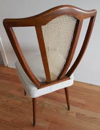 Mid Century Dining Chairs Upholstered Buy Six Shapely Upholstered Mid Century Dining Chairs