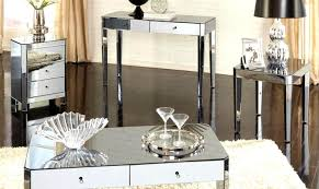 mirrored glass coffee table spectacular black side table living ideas ored coffee table round