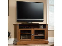 Computer Desk Tv Stand by Sauder Carson Forge Rustic Style Panel Tv Stand With Industrial
