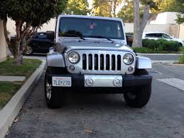 jeep wrangler front front bumper licence plate side off center mount jeep wrangler