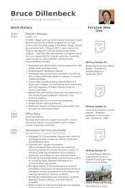 Program Management Resume Examples program manager resume samples visualcv resume samples database