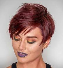 red short cropped hairstyles over 50 70 short shaggy spiky edgy pixie cuts and hairstyles pixies