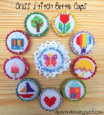 super easy cross stitch fabric covered buttons tutorials