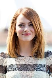 mid length emma stone mid length bob shoulder length hairstyles lookbook