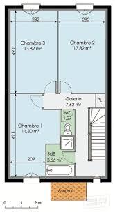 plan maison en u ouvert plan de maison de 50m2 avec etage
