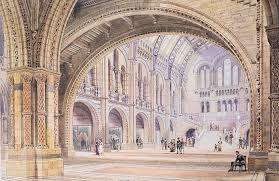 Interior Design History Design Drawing For The Natural History Museum London 1878