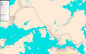 Hong Kong Mtr Map Hong Kong Real Distance Metro Map