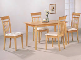 Casual Dining Room Lighting by Warm Light Maple Wood Finish Modern 5pc Casual Dining Set