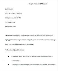 Mba Resume Templates First Job Resume 7 Free Word Pdf Documents Download Free
