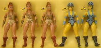 Teela And Evil Lyn - hyve of villainy evil action figures vintage masters of the
