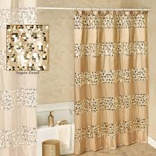 Salmon Colored Shower Curtain Curtain Creates A Glittering Atmosphere For Your Bathroom With