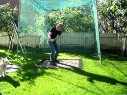 Golf Net For Backyard by Kjells Homemade Driving Range Youtube