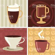 four different coffee mugs and cups stock vector art 98135171 istock