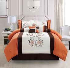 Rust Comforter Set Luxurious Bedding Collection On Ebay