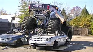 bigfoot monster truck youtube bigfoot 20 first electric monster truck car crush youtube