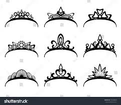 vector tiaras set crown royal queen stock vector 353546063