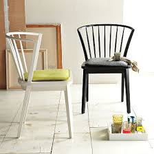 West Elm Dining Room Chairs Dining Head Chair Option 3 Do Them In Black Modern Windsor