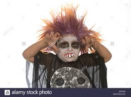 Boys Skeleton Halloween Costume Boy Face Paint Skeleton Halloween Costume Stock Photos U0026 Boy Face
