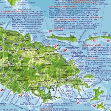 road map of st usvi us islands guide and dive franko s fabulous maps of