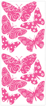 flocked butterfly removable wall decals wall2wall