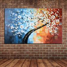 popular painting wall mural buy cheap painting wall mural lots large wall picture palette knife big tree oil painting thick painted canvas art modern wall mural