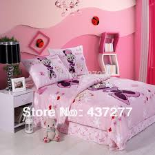 girls beautiful minnie mouse pink bedding sets cotton fabric queen