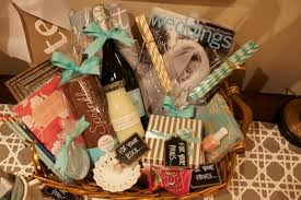 the monogrammed newlywed gift basket