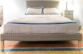 ikea bed hack ikea hack how to upholster a fjellse bed frame emmerson and