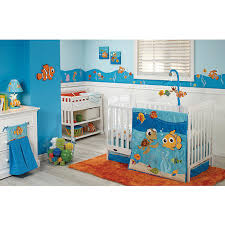finding nemo bedroom set appliqué details on the comforter and a fun print on the fitted