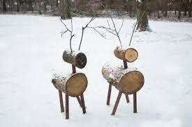 log reindeer how to make reindeer lawn ornaments simplemost