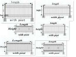 aluminum fence picket used ornamental aluminum fence used metal