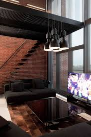 stylish exposed brick wall lofts home decorating ideas