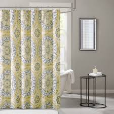 Yellow Paisley Shower Curtain by Madison Park Essentials Serenity Printed Shower Curtain Ebay