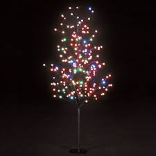 5ft multi function globe tree with 200 multi coloured leds
