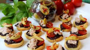 food canapes tuna and olive canapés seafood experts