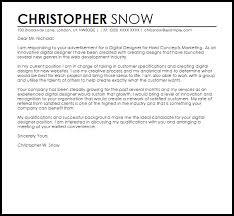 digital designer cover letter sample livecareer