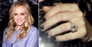 10 karat diamond ring hilary duff s 750 000 diamond closeup