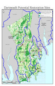 Massachusetts Town Map by Dartmouth Buzzards Bay National Estuary Program