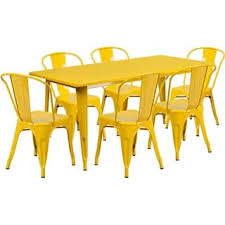 yellow metal outdoor dining sets for less overstock com