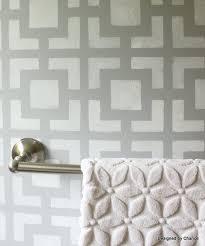 bathroom wall stencil ideas designed by chance stenciled bathroom wall