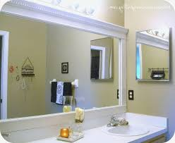 Framing Bathroom Mirror With Molding Beautiful Bathroom Cabinets Crown Molding Arch Framing How To