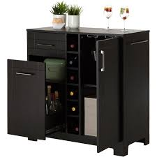 vietti bar cabinet with bottle and glass storage multiple
