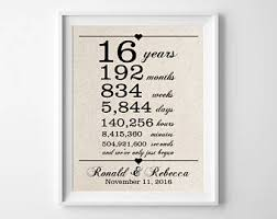 16th wedding anniversary gifts 1st anniversary gift for husband one 1 year wedding