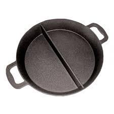 poele et cuisine poêle cuisine géante revêtement platinium 3 compartiments