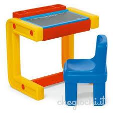 si e de table chicco banco scuola con seggiolina tavoli e banchetti attività chicco