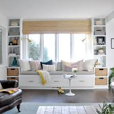livingroom bench window seat and built ins reveal befores middles and afters