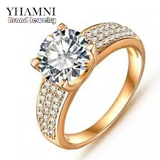 rings for promotion fashion 24k gold filled wedding rings for women